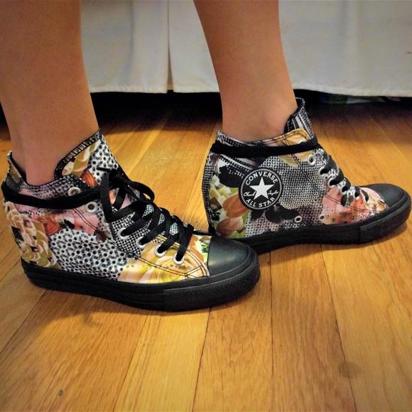 a426ec3d4595 Converse Shoes - Wedge Converse Lux Digital Floral Print Size 8